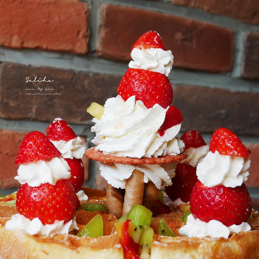 台北IG甜點台北IG咖啡廳草泥Cafe好吃草莓甜點好拍鬆餅雜貨風咖啡館大安區安和路