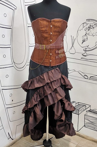 Женский карнавальный костюм Комплект в стиле стимпанк
