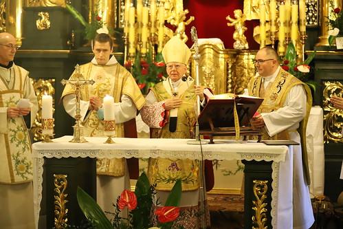 Msza św. w Sanktuarium św. Józefa ul. Poselska w Krakowie z okazji odpustu