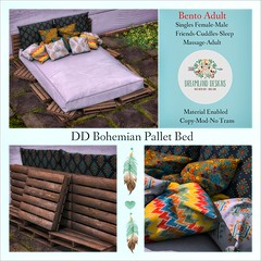 DD Bohemian Pallet Bed-Adult