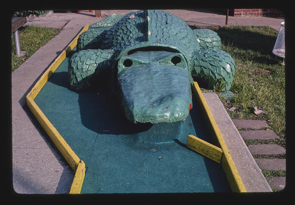 Alligator, Sir Goony Golf, Independence Boulevard, Charlotte, North Carolina (LOC)