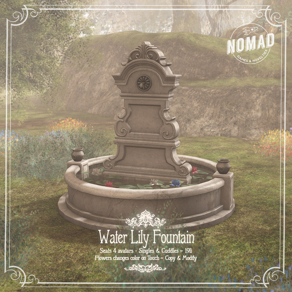 NOMAD // Water Lily Fountain