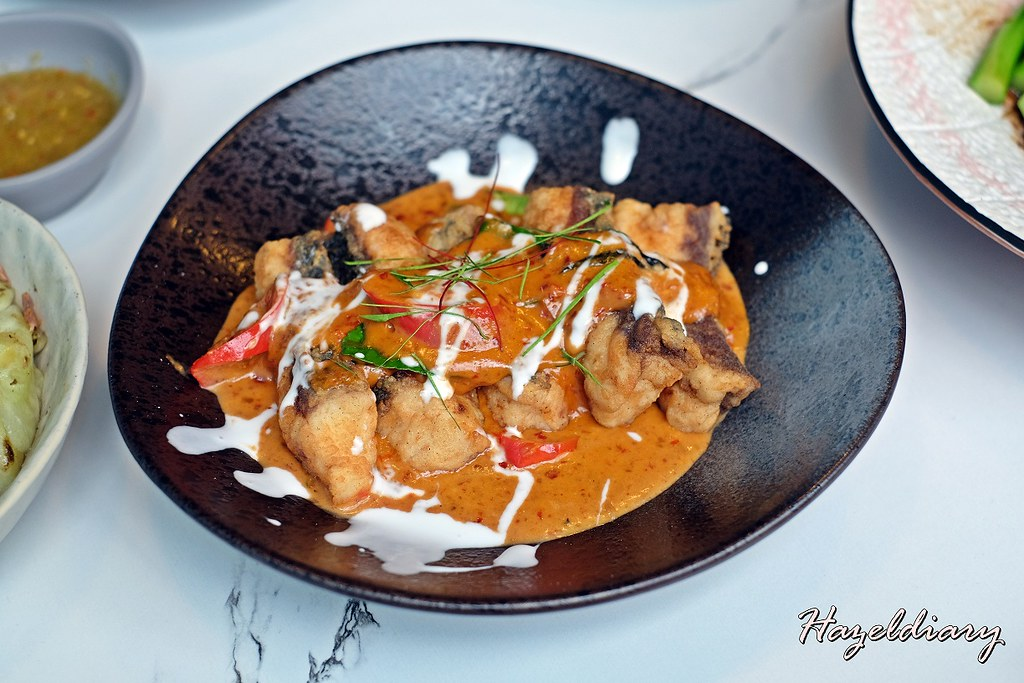 Enjoy Eating House and Bar-Crispy Fish with Chef Joel's Red Curry Sauce