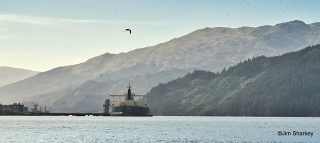 tanker Australis at Finnart Loch Long Scotland