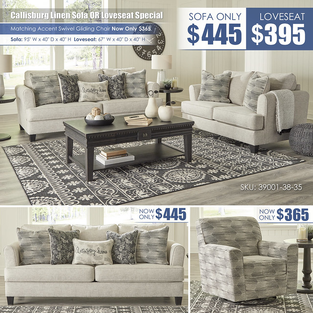 Callisburg Linen Sofa OR Loveseat Special_39001-38-35-T960