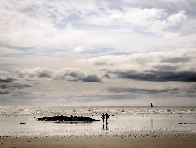 marée basse ...    Granville  Normandie