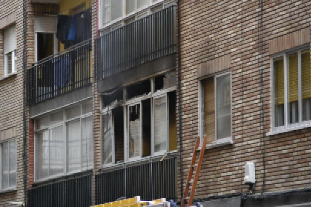 Incendio en la calle Plasencia.  (11)