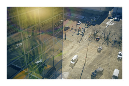 jasper edmonton alberta canada kanada city office towers downtown reflections cars parking glass sunshine sunny windows vanveenjf artsy fartsy art spring snow view covid time