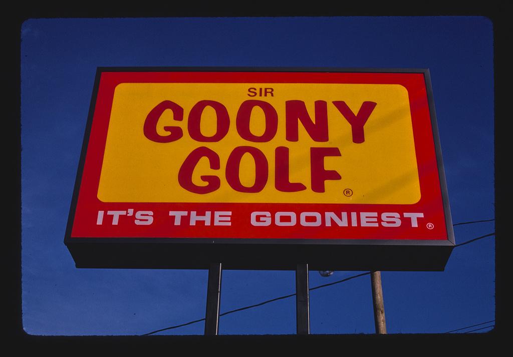 Sign, Sir Goony Golf, Independence Boulevard, Charlotte, North Carolina (LOC)