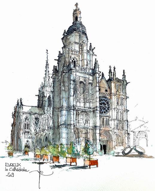 EVREUX la cathédrale