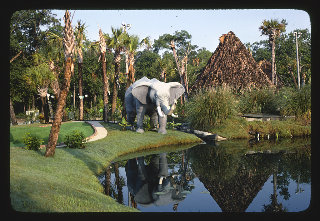 Elephant (front), Jungle Golf, Myrtle Beach, South Carolina (LOC)