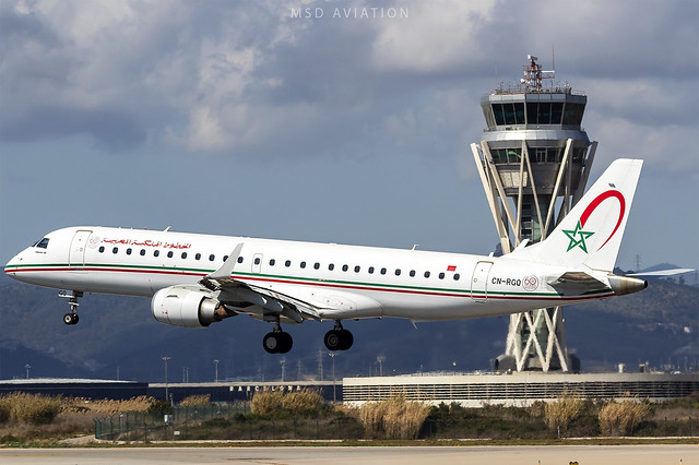 Embraer 190AR CN-RGQ Royal Air Maroc @ BCN/LEBL