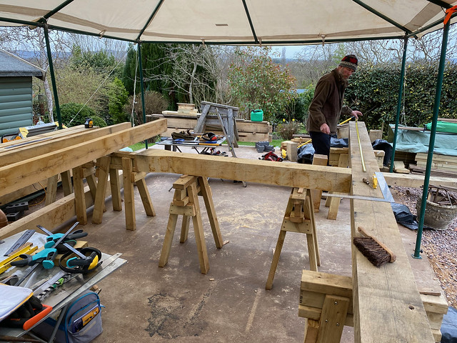 Ben starts on the righthand truss
