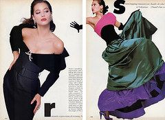 Vogue editorial shot by Bill King 1986