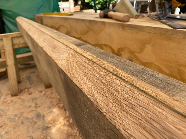 Correction of curve up in ridge beam