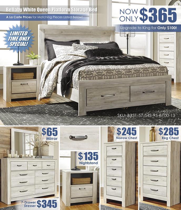 Bellaby White Platform Storage Bed_A La Carte_B331-31-36-11-58-56S-95-91-Q323