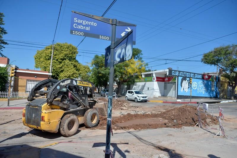 Cloacas Avanzan los trabajos en los barrios Rivadavia y Sarmiento (3)