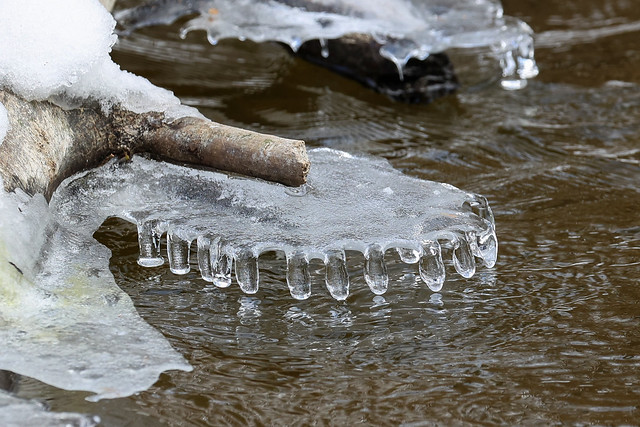 Ice formation above water