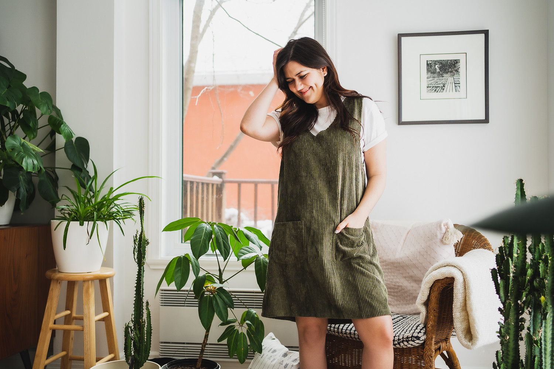 marie-chloe robe verte plantes