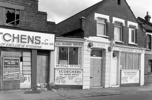 Shops, Leytonstone Rd, Maryland, Newham, 1989 89-9a-66
