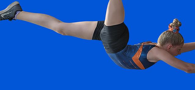 Gymnast In Mid Air