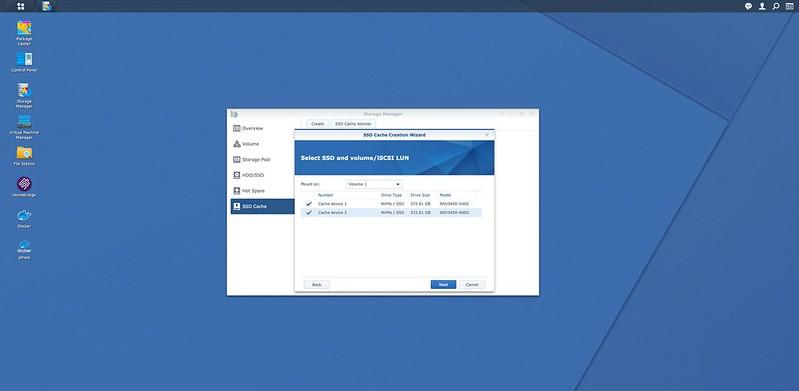 DSM - SSD Cache - Setup #2