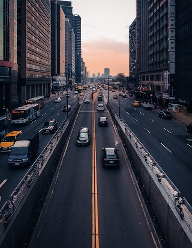 orangesky traffic road sunset
