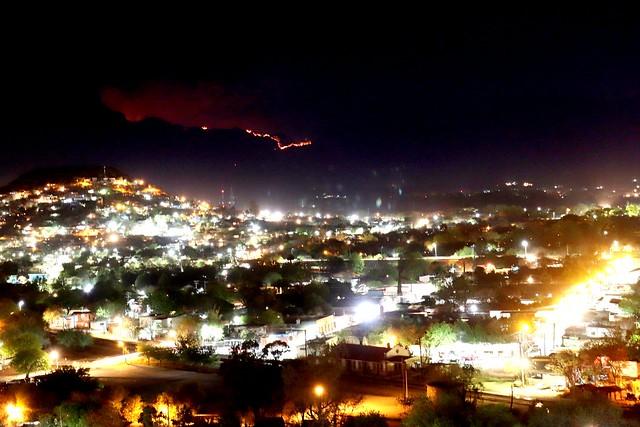 Incendio forestal en Nuevo León Mexico