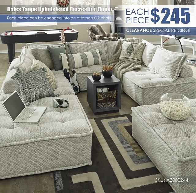 Bales Taupe Upholstered Recreation Room_A3000244-COLLEGE-V-A