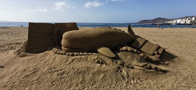 escultura arena en la playa de las canteras Las Palmas de Gran Canaria 59