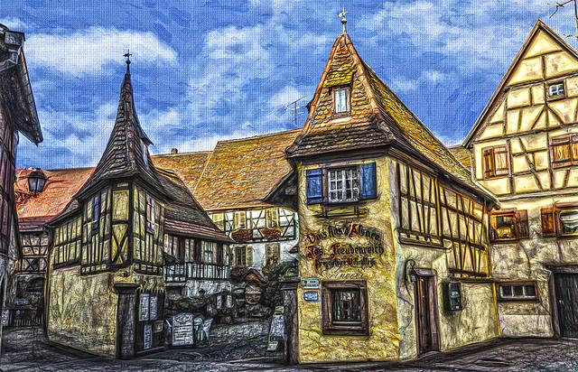 Eguisheim Alsacia - Bodega