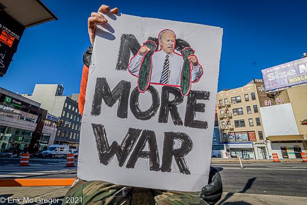 Anti-War Activists Protest On Iraq War 18th Anniversary
