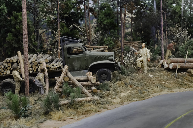 Forestry Diorama at Louisiana State Exhibit Museum