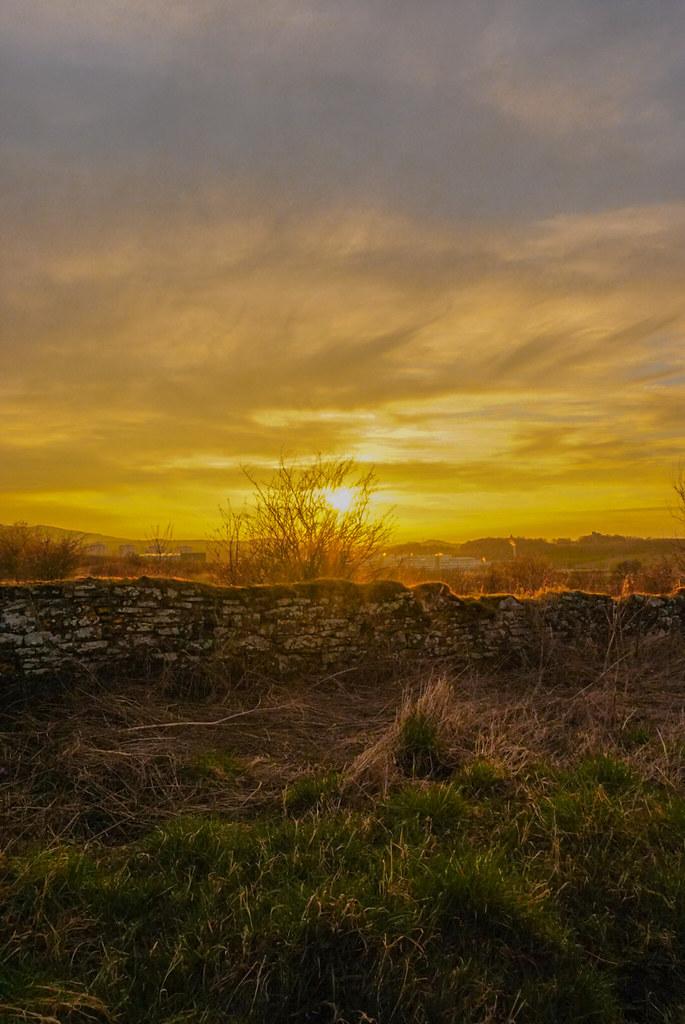 Lovely sunset over edinburgh