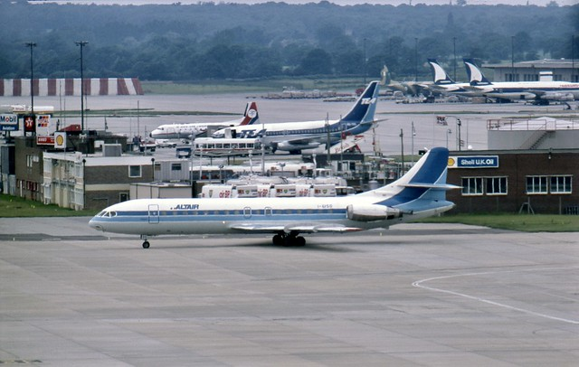 Airline symmetry :) A lively scene at London Gatwick in the summer of 1985