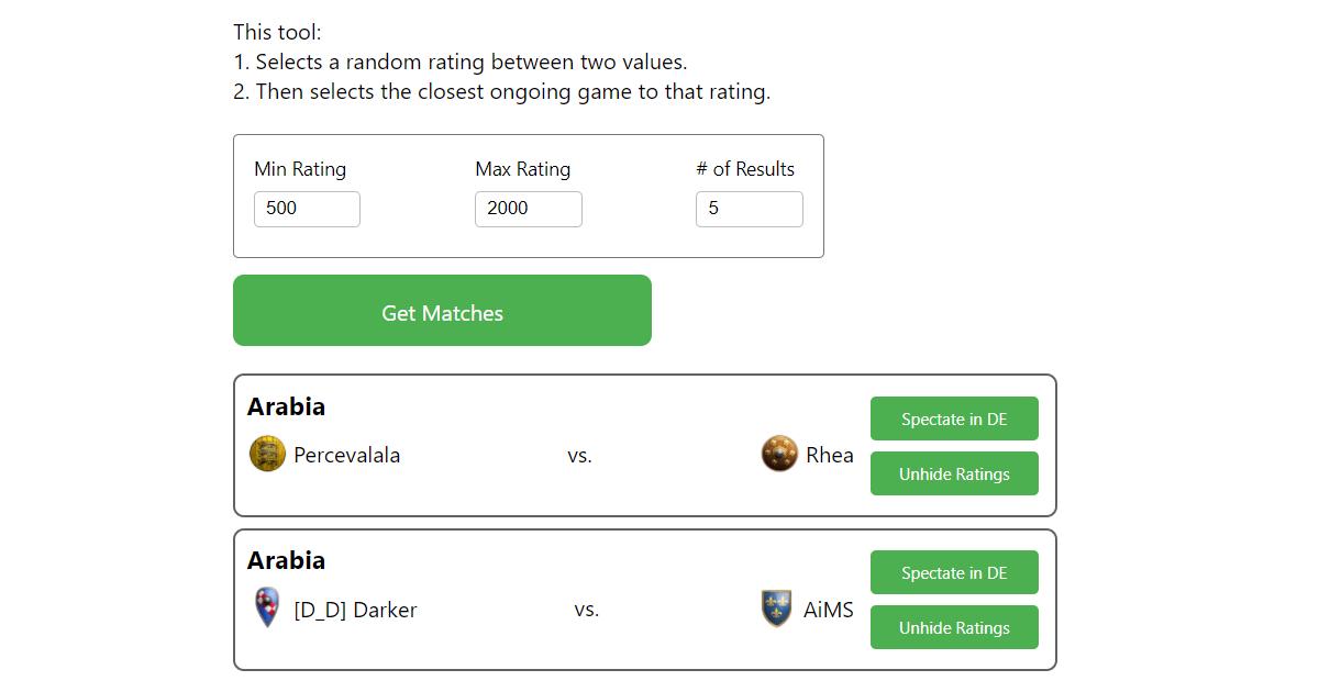 Screenshot of the 'Guess the Elo' tool