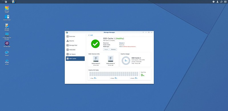 DSM - SSD Cache - Setup Done