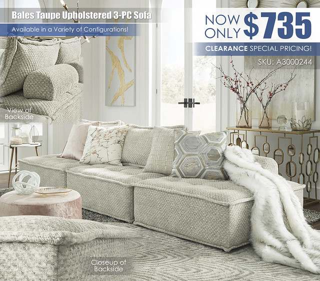 Bales Taupe Upholstered 3-PC Sofa_A3000244-GLAM-SQ