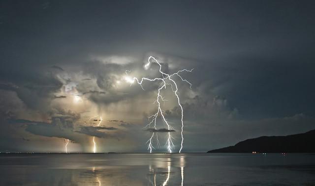 Lightning Strikes the Coral Sea - Nov 2008