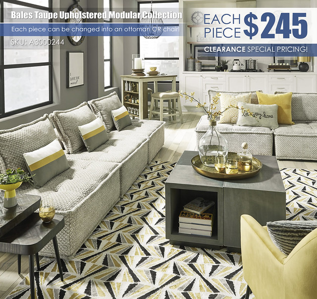Bales Taupe Upholstered Modular Collection_Living_A3000244-APT-V-A