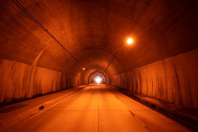落合隧道の中