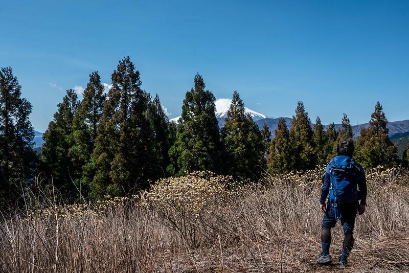 ミツバ岳で記念写真