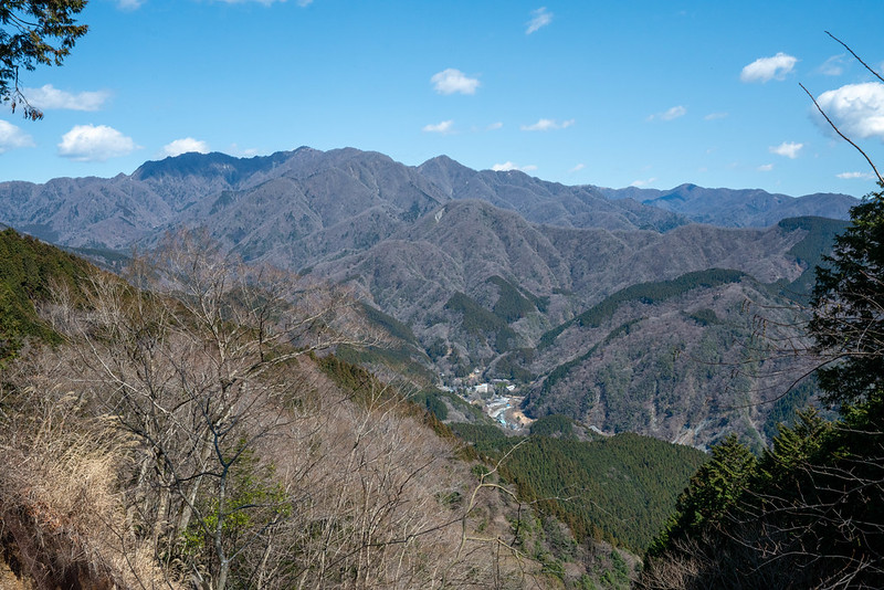 丹沢の主稜線が見えた