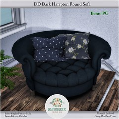 DD Dark Hampton Round Sofa-PG