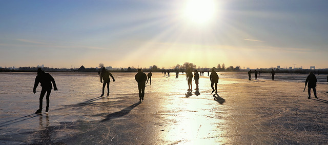 The skating silhouettes in Zuiderwoude speak for themselves