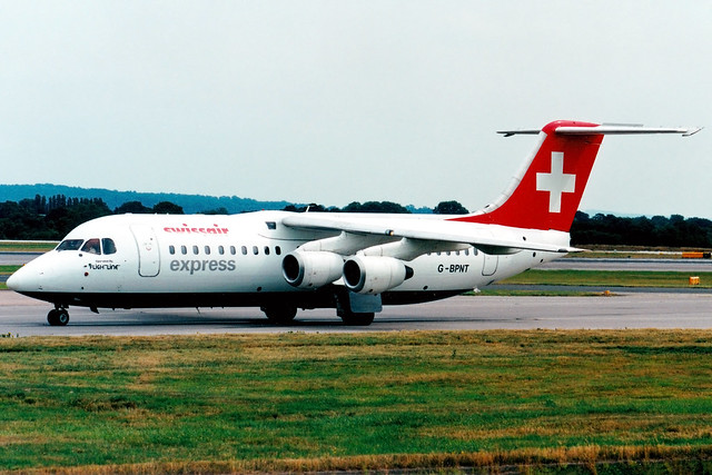 Swissair (Flightline) | British Aerospace BAe146-300 | G-BPNT | Manchester International