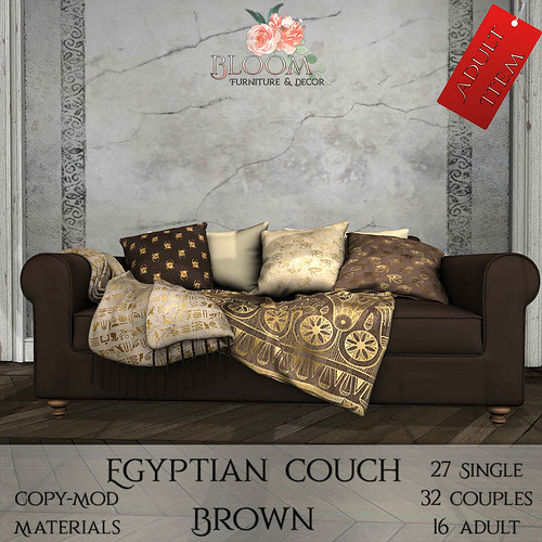 Bloom! - Egyptian couch Brown (A)AD