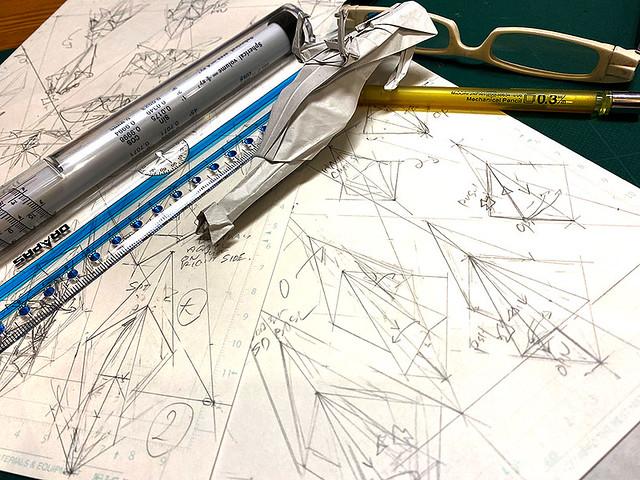 Start DRAFTING the diagram of Speeder bike origami!