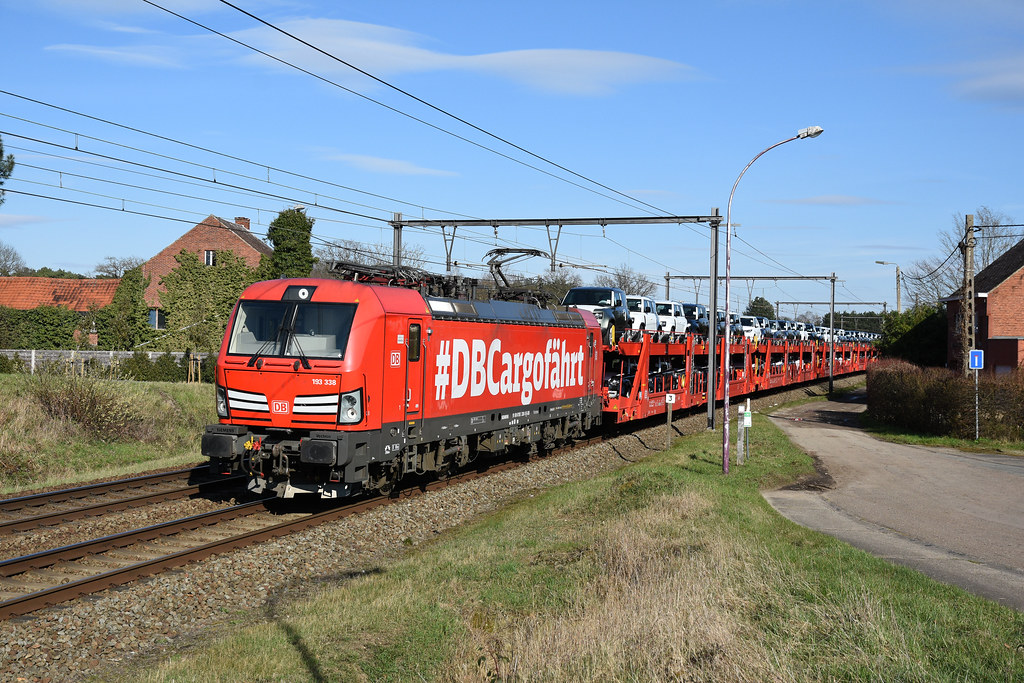 193338 DB Cargo + 49566, Langdorp, 20/03/2021