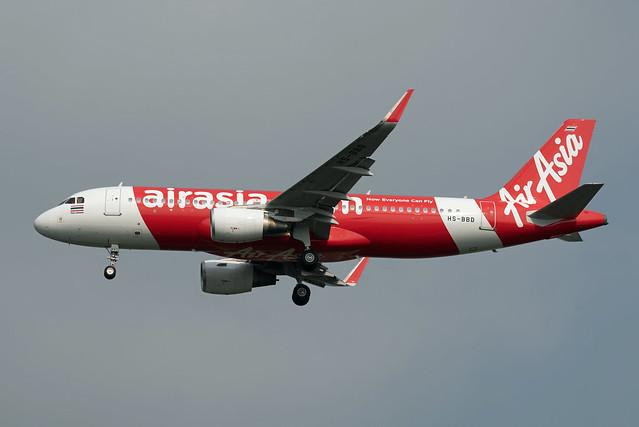 Thai AirAsia Airbus A320-216(WL) HS-BBD Sharklets
